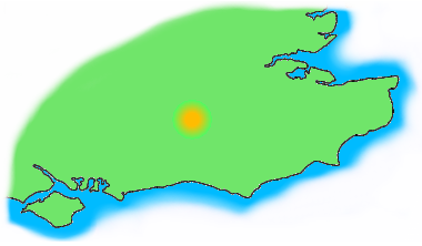 Map of SE England